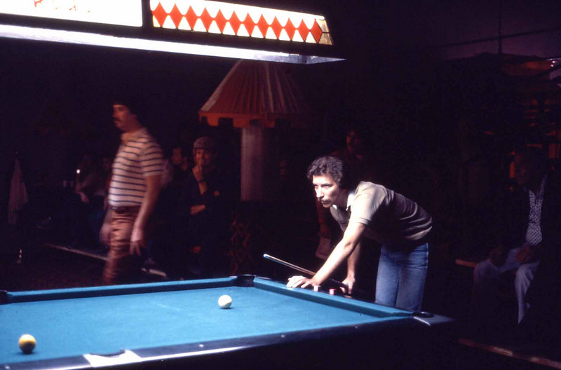 Jim Rempe - what's he looking at? The nine-ball is the only thing left on the table.