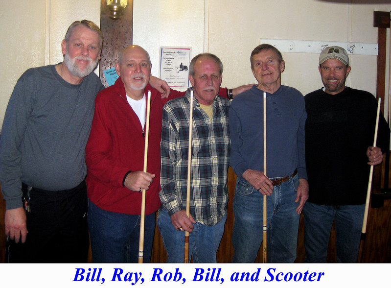 Bill, Ray, Rob, Bill Hester, and Scooter Brown