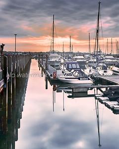 Sunrise over Poole Quay