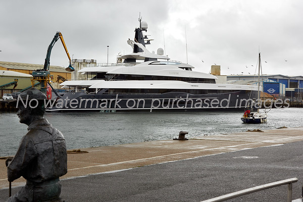 Superyacht Elandess moored at Poole Quay