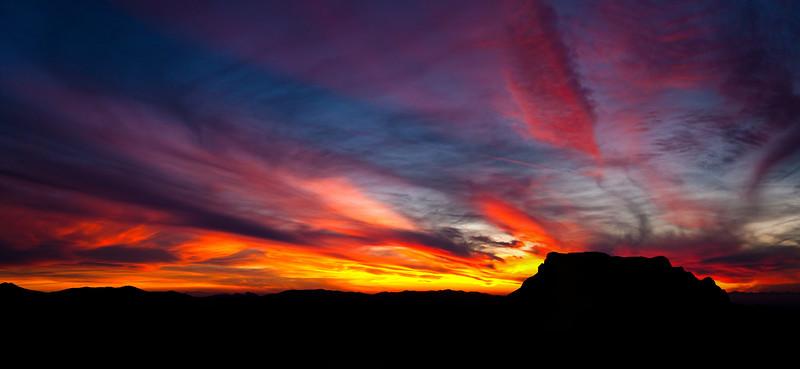 Picketpost Mnt Sunset in Arizona