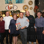 Chef Michael Crouch, chef Robbi Santos, chef Shawn Ward, author Nancy Miller, Barry Wooley, chef Harold Baker, Majid Ghavami and chef Colter Hubsch.