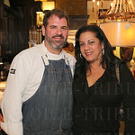 Chef Michael Crouch from Bistro 1860 and Maria Velasco-Lockard Nohalty.