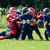 The Fitchburg tiny mites AYF team plays against West Boylston during the jamboree at St. Bernard's on Saturday morning. SENTINEL & ENTERPRISE / Ashley Green