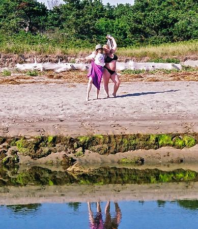 07.07.25 Popham Beach - Cathryn Wilson and Jaclyn
