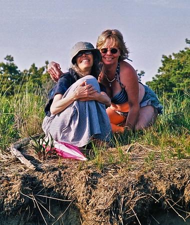 08.06.15 Popham Beach - Cathryn Wilson and Sally