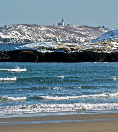 15.02.28 Popham Beach and Fort Popham - Winter Snow