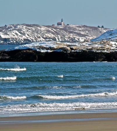 15.02.28 Popham Beach and Fort Popham - Winter Snow