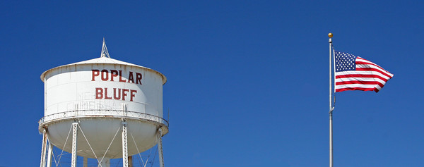 Water Tower and Old Glory