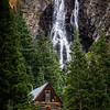 Burns Gulch Waterfall and Cabin