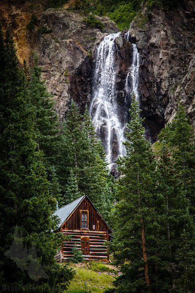 Burns Gulch Waterfall and Cabin