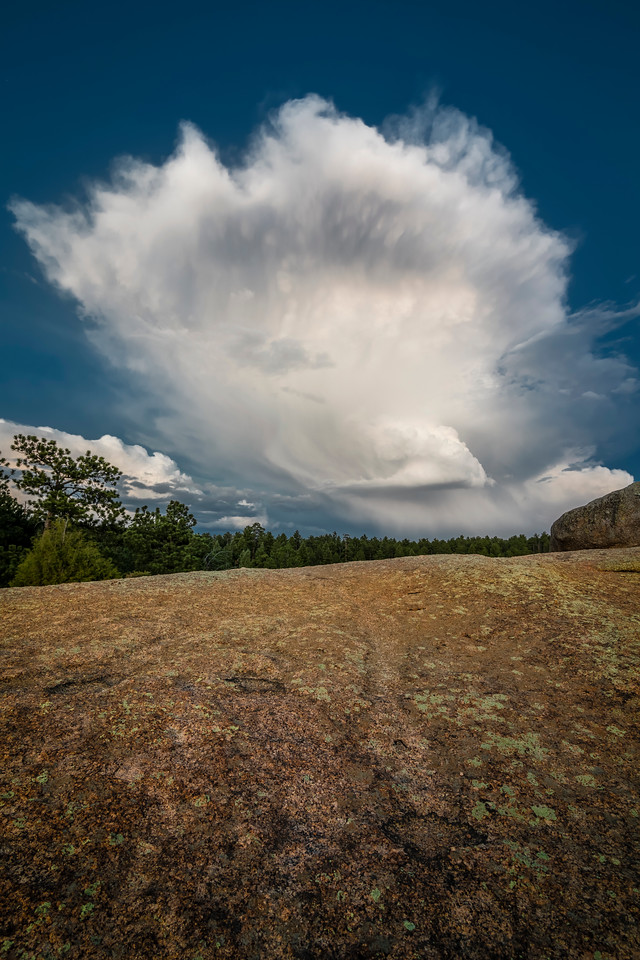 Granite and Cumulonimbus in Color