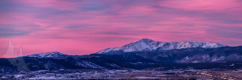 Pike's Peak Sunrise from Castle Rock
