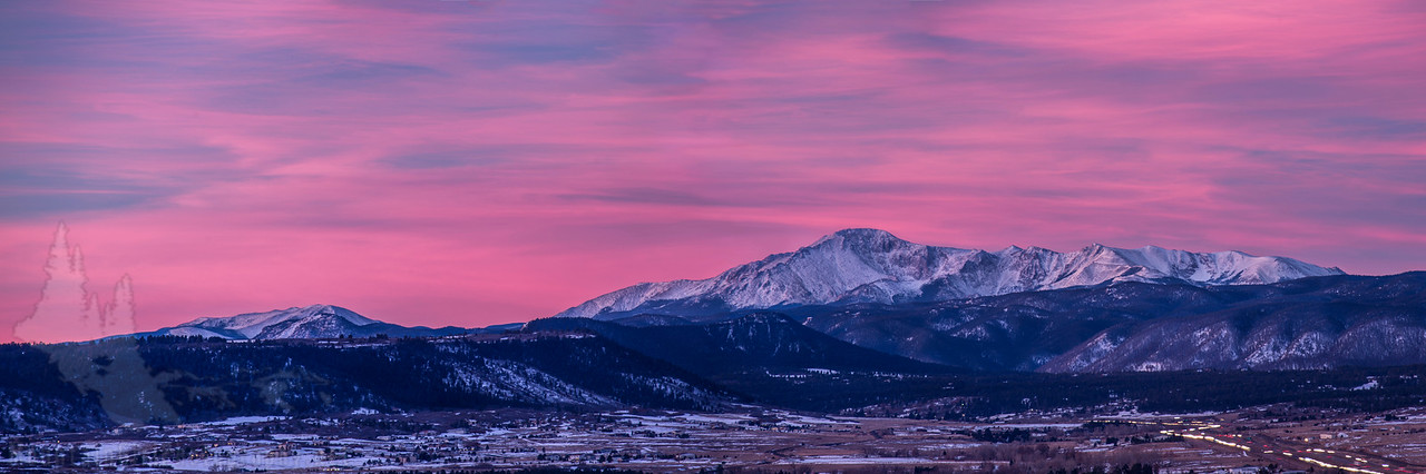 Pike's Peak Sunrise from Castle Rock