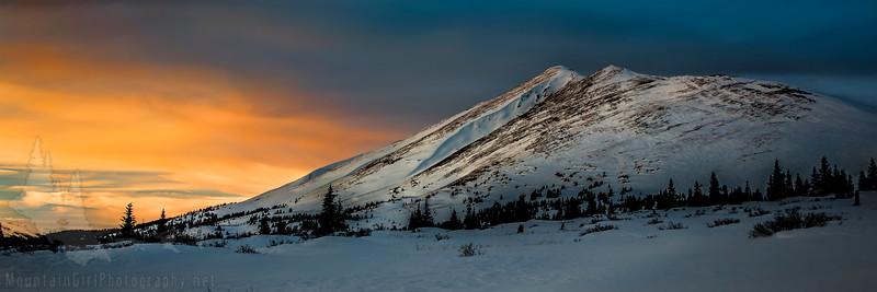 Bald Mountain Winter Sunset