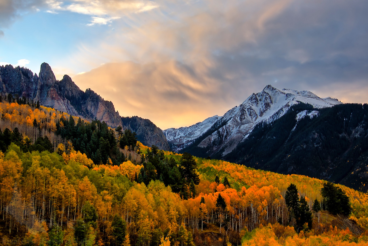 Ophir Needles and Yellow Mountain