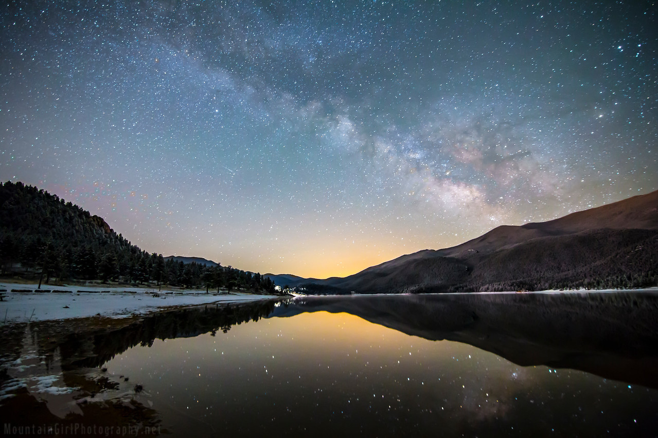 March Milky Way Over Wellington Lake #2
