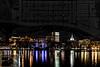 Savannah at Night with 1818 Historic Map