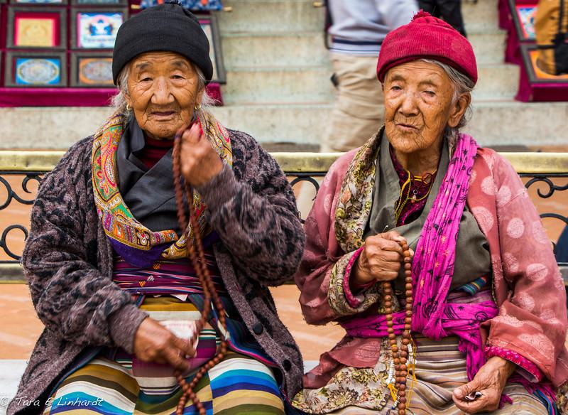 at the stupa- Nepal
