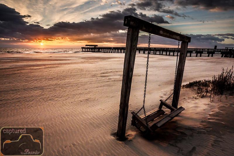 Tybee Pier Swing Sunrise