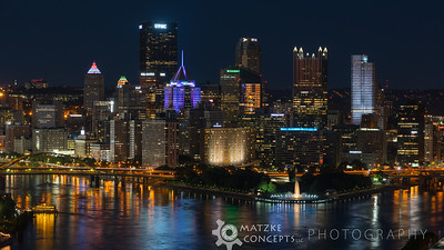 Pittsburgh at Night from West End Overlook