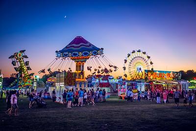 Amusement Park Rides at Night