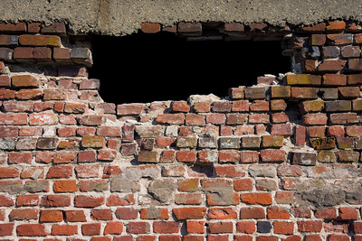 Brick Hole in the Wall