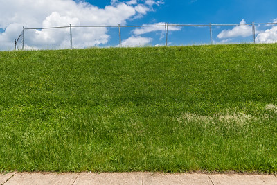 Grass Fence and Sky
