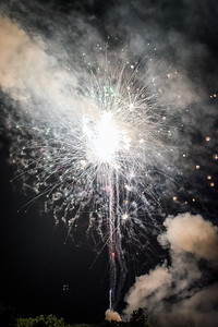 Bright Explosion of Fireworks