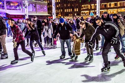 Skating Crowd Bryant Park