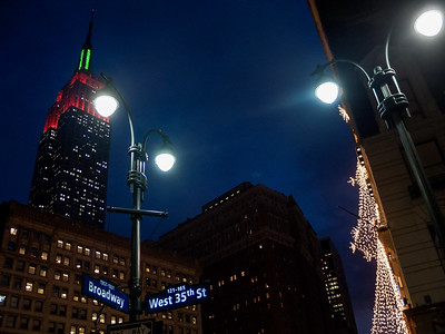 Holiday Lights on Broadway