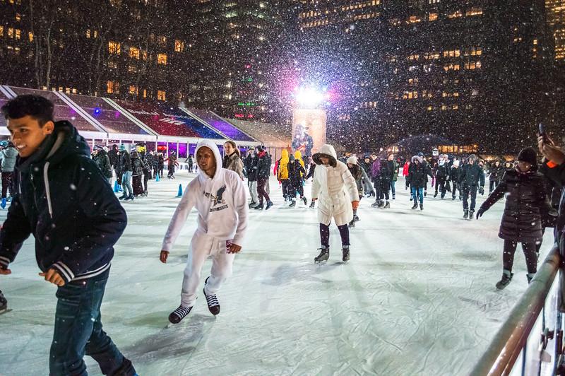 Skating Fun Bryant Park
