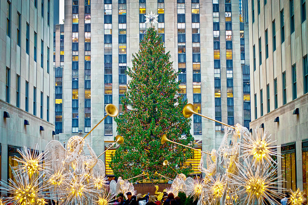 """Rockefeller Center Tree 2012""  NEW YORK - NOVEMBER 30: Holiday Decorations and the Christmas tree in Rockefeller Center on November 30, 2012 in  New York City."