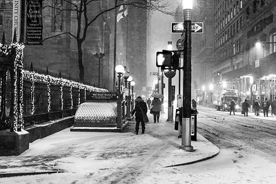 Snowing on Wall St