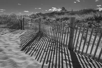 Beach Shadows BW