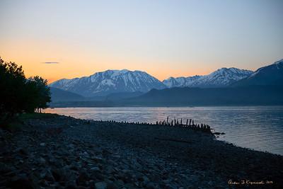 Sunset on Resurrection Bay