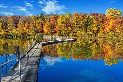 Footbridge Across Lake