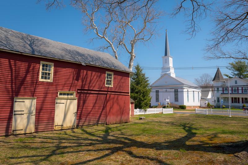 Old Barn and Church