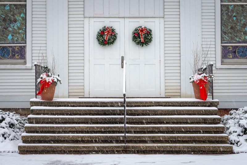 Christmas Wreaths on Church