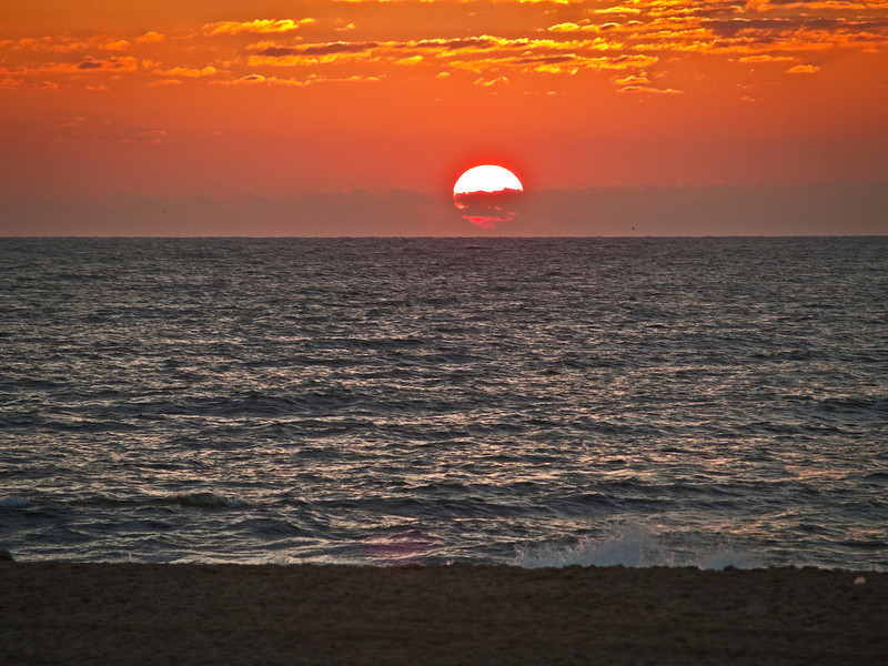 """""""Sunrise Ocean City""""<br /> <br /> A view of the sunrise from the beach in Ocean City, Maryland."""