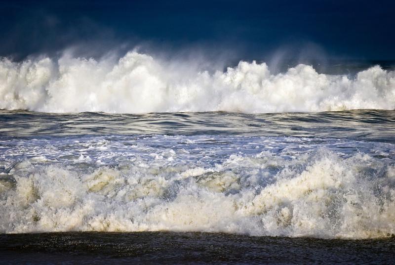"""Stormy Seas""<br /> Rough surf along the shoreline in Belmar New Jersey."