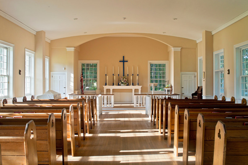 """""""Old Church""""<br /> <br /> A colonial Christian church in historic Allaire Village in New Jersey."""