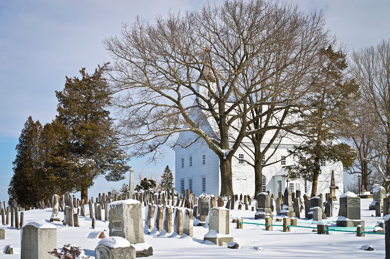 """""""Old Tennent Cemetery""""<br /> The historic Old Tennent Church and cemetery in Central New Jersey after a fresh snowfall."""