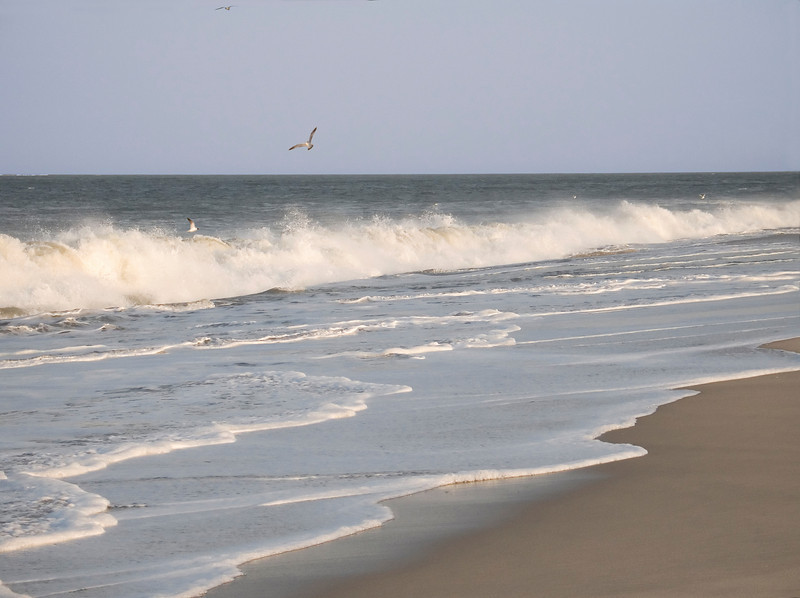 """""""Long Wave""""<br /> A long breaking wave along the New Jersey Shore."""