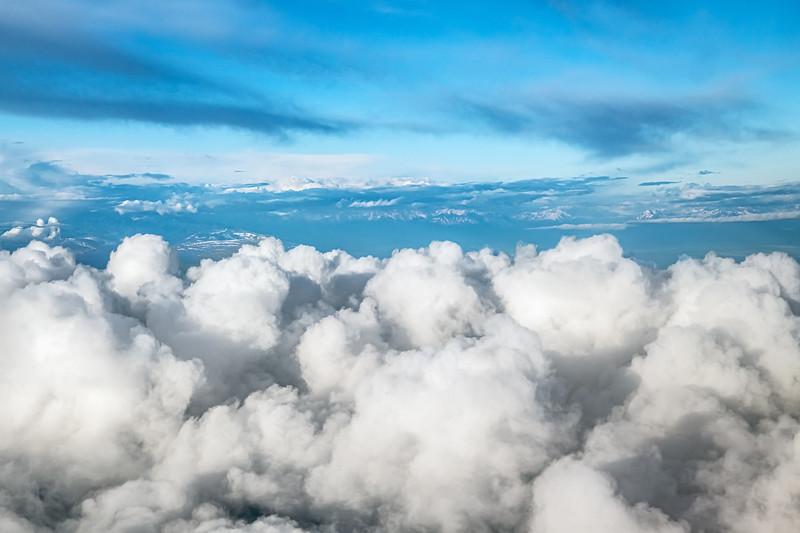 Aerial Puffy Clouds