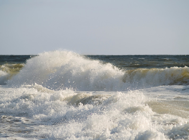 """""""Restless Sea""""<br /> Rough surf along the beach in Ocean City, Maryland."""