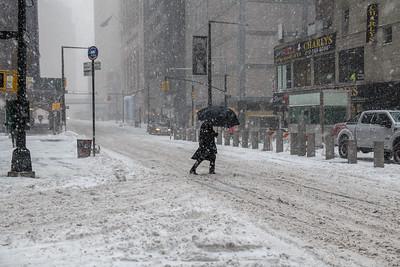 Crossing Snowy Street