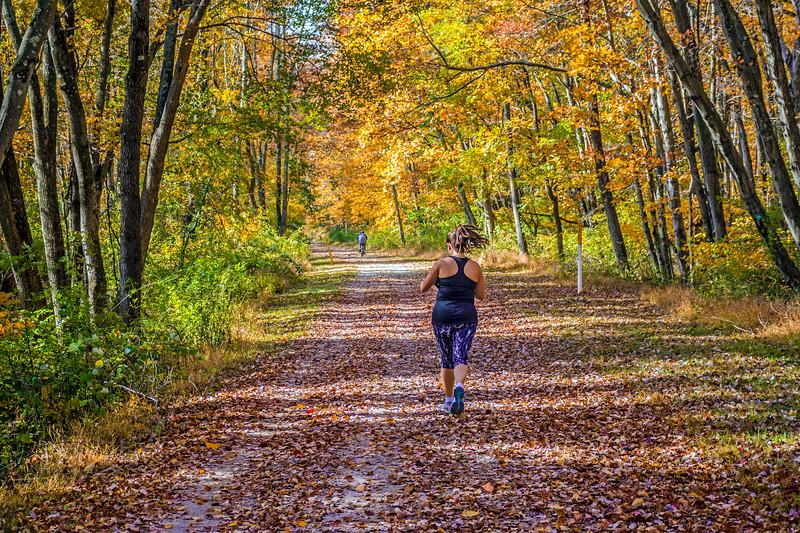 Running Through Fall Park