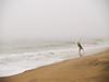 """The Cast""<br /> A surf fisherman om a misty stormy day at Sandy Hook, along the Jersey Shore."