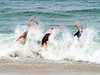 """""""Triple Splash""""<br /> Three teens do a synchronized flop into the ocean on a hot Summer day along the Jersey shore."""